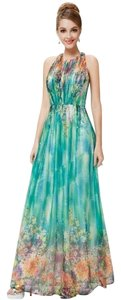 Green Multi Maxi Dress by Ever-Pretty