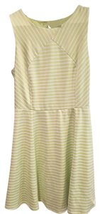Esley short dress Bright green and white on Tradesy