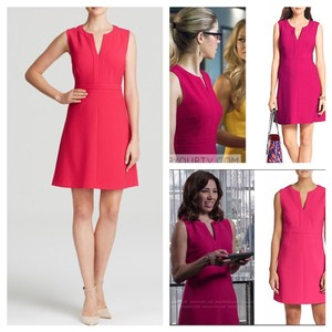 Diane von Furstenberg short dress Fuchsia on Tradesy