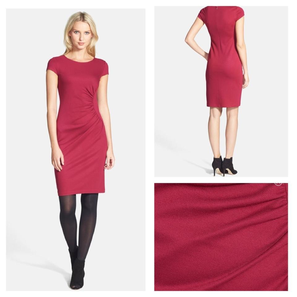 Lafayette 148 New York Red Cap Sleeve Shirred Red. Make Us Offers ...