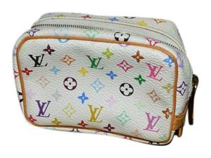 Louis Vuitton Lv Clutch Kusami Wristlet in White Multicolor