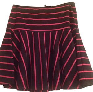 Betsey Johnson Mini Skirt Black/Pink stripes