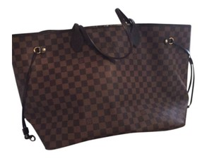 Louis Vuitton Neverfull Gm Tote in Damier Ebene