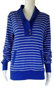Banana Republic Royal Sweatshirt Striped Sweater