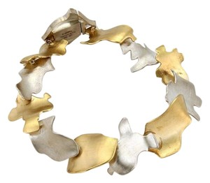 Tiffany & Co. Tiffany Co. Frank Gehry Leaves Bracelet In 18k Yellow Gold Sterling Silver