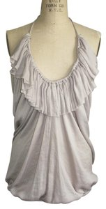 Lanvin Metal Bias Top TAUPE