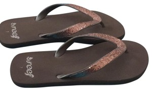Reef Brown with orangish sparkle Sandals