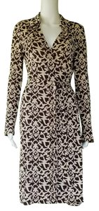 Diane von Furstenberg short dress Brown Silk Jersey Wrap Jeanne on Tradesy