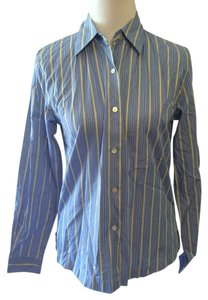 Austin Reed Casual Button Down Classic Button Down Shirt Blue, yellow and white