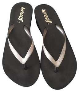 Reef Black with silver sparkle Sandals