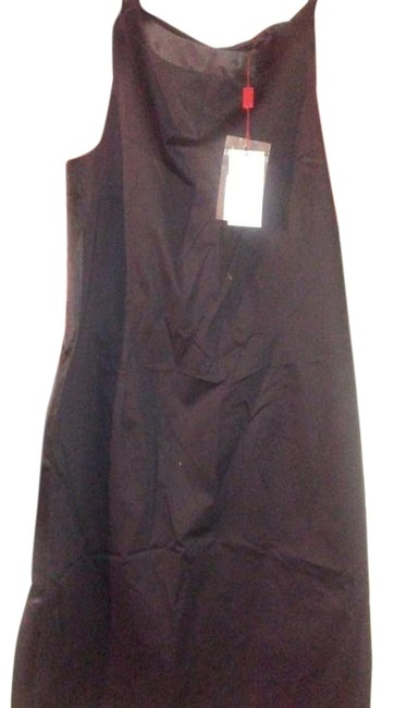 Item - Black Made In Italy Cotton Mid-length Night Out Dress Size 12 (L)