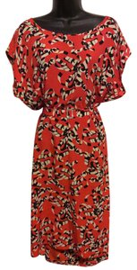 Orangey Red/Black/White Maxi Dress by Other