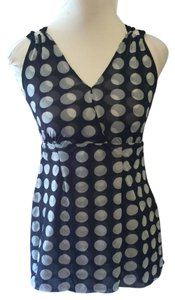 White House | Black Market Casual Pullover Stretchy Polka Dot Tunic