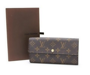 Louis Vuitton Authentic Louis Vuitton Monogram Sarah Long Wallet