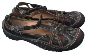 J-41 Black with brown stripes Sandals