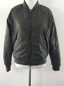 Vince Bomber Army Green Jacket