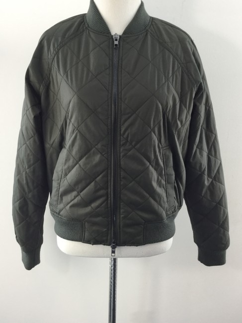 Vince Quilted Bomber Army Green Jacket 60 Off Retail