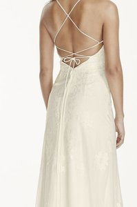 Galina Lace Sheath Wedding Dress With Low Crisscross Back Wedding Dress