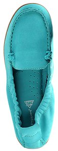 Hush Puppies Slip On Leather Teal Flats