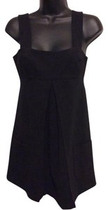 Diane von Furstenberg short dress Black Empire Waist Ultra Mini Tunic Sleeveless on Tradesy