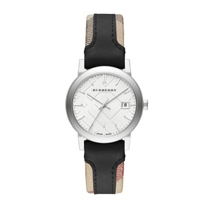 Burberry Burberry The City Haymarket Check Black Leather Watch BU9150