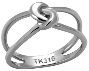 La Bella Rose Stainless Steel Infinity Knot Ring - 08138