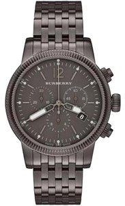 Burberry Burberry Men's The Utilitarian Gunmetal Steel Chronograph Watch BU7840