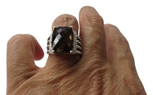 David Yurman Wheaton 16mm x 12mm Smokey Quartz with Pave' Diamonds