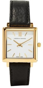Larsson & Jennings Larsson & Jennings Norse leather and gold-plated watch