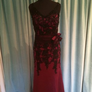 Ambiance Black/Sangria 3550 Dress