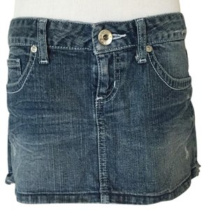 Guess Mini Skirt Blue, jean