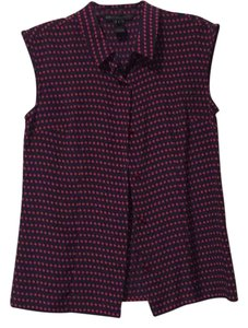 Marc by Marc Jacobs Pocka Dots Silk Top Navy