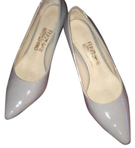 Salvatore Ferragamo Grey Opal Pumps