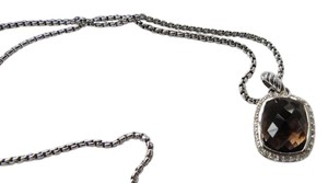 David Yurman Noblesse Smokey Quartz/Pave' Diamond Pendant; 18