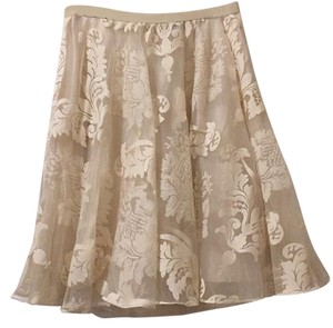 Anthropologie Crea Lace Tutu Skirt Cream