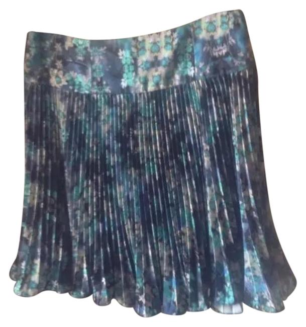 Item - Blue New Without Tags Printed Knife Pleat Skirt Size 8 (M, 29, 30)