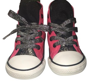 Converse Pink, Black, Silver & White Athletic