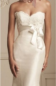 Paloma Blanca Paloma Blanca- Lace/silk Wedding Gown-3854 Size 12-#pb1 Wedding Dress