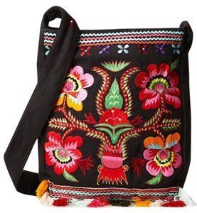 Moyna Embroidered Southwest Design Boho Chic Bohemian Cross Body Bag