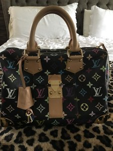 Louis Vuitton Speedy 30 Speedy Murakami Satchel in Multicolor