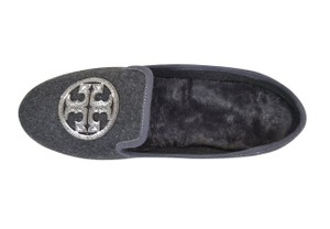 Tory Burch Billy Slipper charcoal flannel pewter grey Flats