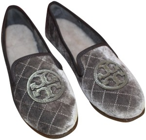 Tory Burch Billy Slipper GRAY PEWTER Flats