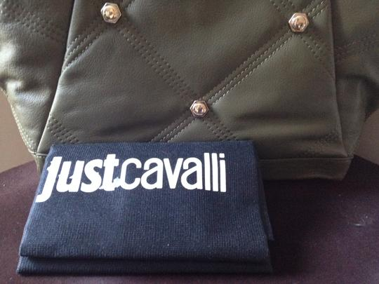 Just Cavalli Coach Tory Burch Mcm Tote in Olive Green