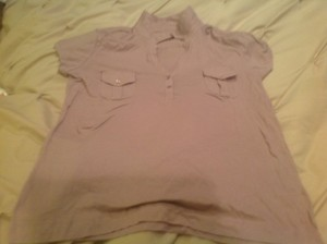 New York & Company Comapny Button Down Shirt Soft pink