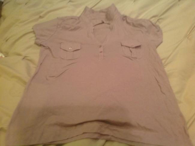 New York & Company And Pink. Bargain Polo Style Button Down Shirt Soft pink