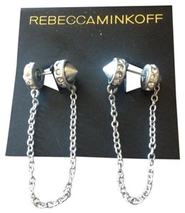 Rebecca Minkoff Rebecca Minkoff Pave Double Sided Studs With Chain Link