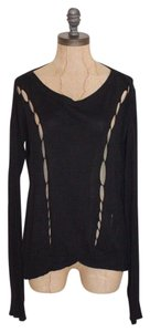 M FREDRIC Distressed Distroyed Stretchy Sweater