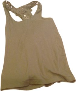 Banana Republic Color Lace Back Top Kacki green