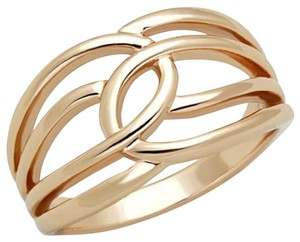 La Bella Rose Rose Gold Stainless Steel Twist Band Ring - 07670