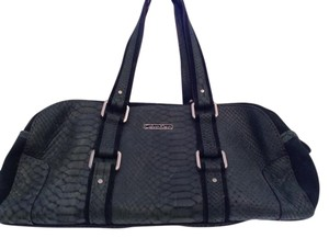 Calvin Klein Leather Bowling Style Satchel in Green